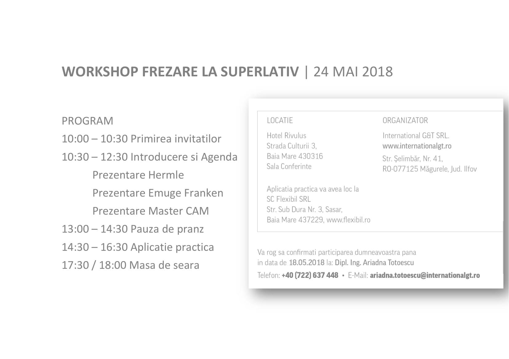 Invitatie Hermle 2018